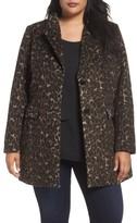 Tahari Plus Size Women's Kendall Leopard Print Topper