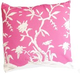 The Well Appointed House Dana Gibson Cliveden Square Chinoiserie Pillow with Birds in Pink