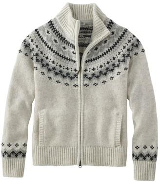 L.L. Bean L.L.Bean Classic Ragg Wool Sweater, Fair Isle Cardigan