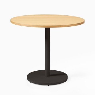 west elm Large Wood Top Round Bistro Table - Sand
