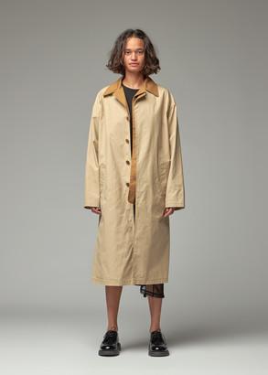 Y's by Yohji Yamamoto Women's Front Layered Coat in Beige Size 1