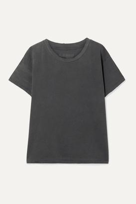 Nili Lotan Brady Distressed Cotton-jersey T-shirt - Anthracite