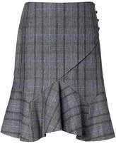 Banana Republic Plaid Paneled Flounce Skirt