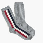 J.Crew Grey trouser socks with racing stripes