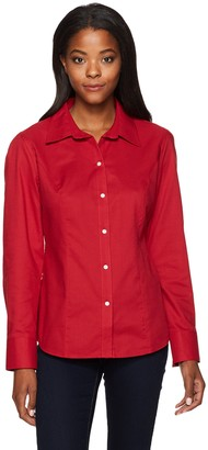 Cutter & Buck Women's Epic Easy Care Long Sleeve Nailshead Collared Shirt