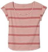L.L. Bean Signature Cotton/Modal Tee, Short-Sleeve Scoopneck Stripe