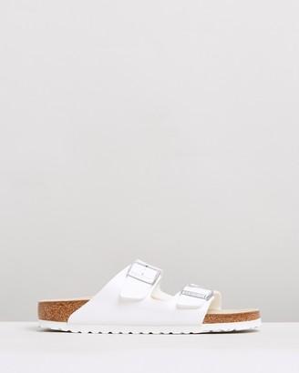Birkenstock Women's White Flat Sandals - Womens Arizona Birko-Flor Narrow Sandals - Size 35 at The Iconic