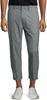 Vince Cropped Chino Trousers, Gray