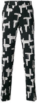 Tom Rebl patchwork tailored trousers