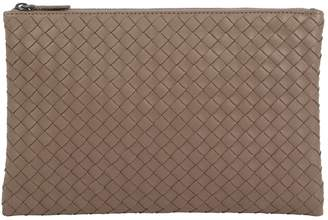 Bottega Veneta Medium Leather Intrecciato Pouch Bag
