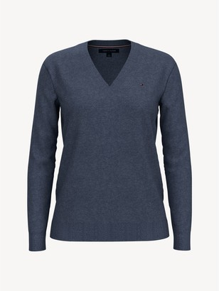 Tommy Hilfiger Essential Solid V-Neck Sweater