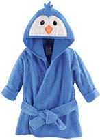 Luvable Friends Blue Penguin Hooded Bathrobe - Infant