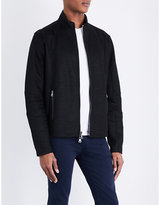 John Varvatos Textured Cotton-blend Jacket