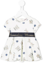 MonnaLisa logo waistband printed dress - kids - Polyester/Spandex/Elastane - 6 mth