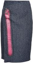 Balenciaga Micro-tweed wrap front skirt