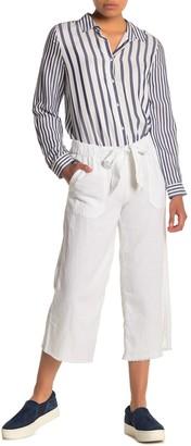 Caslon Crop Linen Blend Pants (Regular & Petite)
