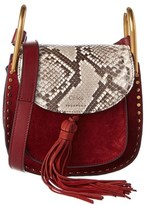 Chloé Hudson Mini Snakeskin-embossed Leather & Suede Shoulder Bag.
