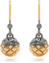 Bottega Veneta Intrecciato-engraved earrings