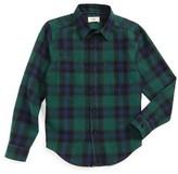 Boy's Z.a.k. Brand Woven Flannel Shirt