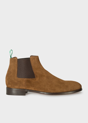 Paul Smith Men's Tan Suede 'Crown' Chelsea Boots