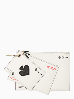 Kate Spade Lucky Draw Triple Pouch