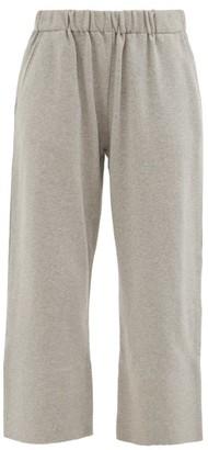 Vika 2.0 - Cropped Organic-cotton Jersey Track Pants - Grey