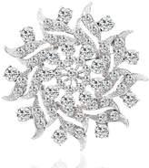 Yilanair Bridal Rhinestone Crystal Flower Brooch Pin For Women