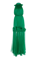 Maria Lucia Hohan Safia Ruffled Neck Gown