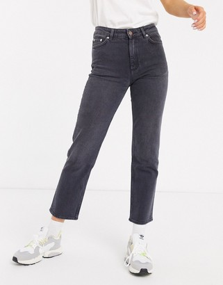 And other stories & straight leg jeans in grey wash