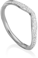 Monica Vinader Riva Diamond Wave Stacking ring