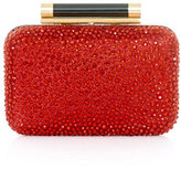 Diane von Furstenberg Small Tonda crystal & leather clutch