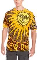 Liquid Blue Men's Sun Moon Tie Dye T-Shirt