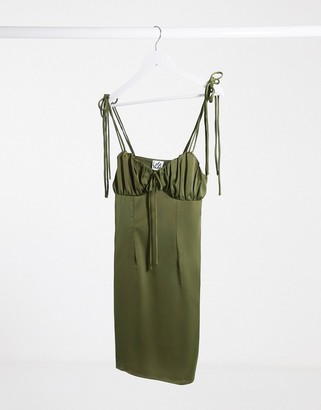 Lola May khaki cami mini dress