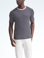 Banana Republic Linen-Stretch Stripe Tee