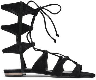 Schutz Suede Gladiator Sandals
