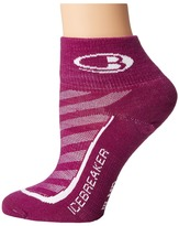Icebreaker Run + Ultra Light Mini 1-Pair Pack Women's Crew Cut Socks Shoes