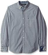 Nautica Men's Classic Fit Long Sleeve Small Plaid Button Down Shirt