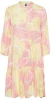 Culture Pink/Yellow Print Cushania Short Dress - XS