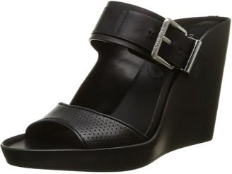Calvin Klein Womens Nuala Sandals Black Size: 5