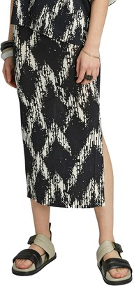 Badgley Mischka Kayla Printed Midi Skirt