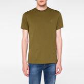 Paul Smith Men's Slim-Fit Khaki Embossed PS Logo Supima-Cotton T-Shirt