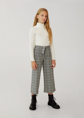 MANGO Check culottes trouser