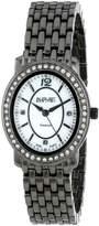 August Steiner Women's AS8043BK Dazzling Diamond Oval Bracelet Watch