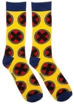 Bioworld Marvel X-men All Over Logo Men's Crew Socks