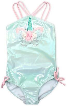 Kate Mack Shimmer Unicorn One-Piece Swimsuit