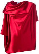 Gianluca Capannolo draped blouse - women - Polyester/Triacetate - 40