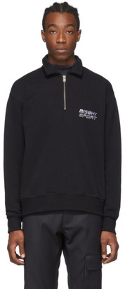 Misbhv Black Sport Half-Zip Sweater