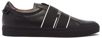 Givenchy Urban Street Elastic-strap Leather Trainers - Mens - Black