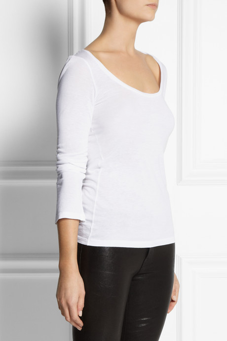 Splendid Cotton and modal-blend jersey top