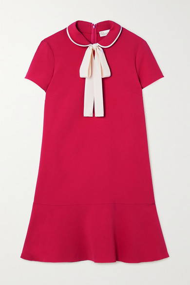 RED Valentino Pussy-bow Crepe Mini Dress - IT36